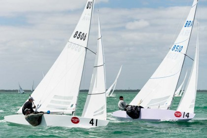 Star Class 8506 and 8510 sailing at Bacardi Miami Sailing Week.
