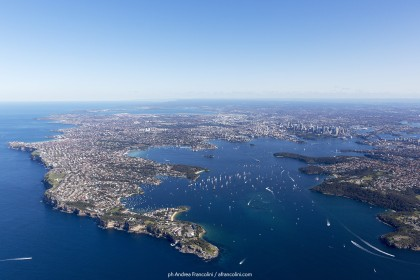 An aerial view of Sydney harbour and South head in the foreground 25/07/2015 ph. Andrea Francolini